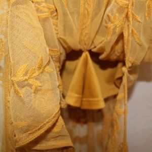 Honey Punch Dresses - Honey Punch Mustard maxi romper
